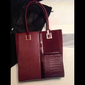 White House Black Market large burgundy  bag, NWT